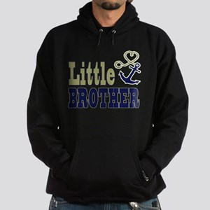 Little Brother Cute Nautical Anchor and Heart Hood